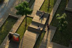 Designs innovants de mobilier urbain - Archzine.fr   Design et ... Concept Architecture, Landscape Architecture, Natural Salt, Urban Landscape, Urban Design, Land Scape, Sidewalk, Outdoor Decor, Beautiful