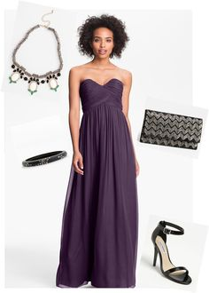 Bridesmaid styling inspired by the rich jewel tone - amethyst.