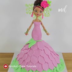DOLL CAKE Doll cakes always get us ?You can find Doll cakes and more on our website.DOLL CAKE Doll cakes always get us ? Fairy Birthday Cake, Barbie Birthday Cake, Cute Birthday Cakes, Mermaid Birthday, Cake Decorating Piping, Cake Decorating Videos, Cake Decorating Techniques, Bolo Barbie, Barbie Y Ken