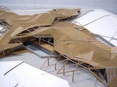 arq-chile-2.gif (600×447) Tectonic Architecture, Organic Architecture, Concept Architecture, Architecture Design, Bamboo Architecture, Chile, Deconstructivism, Modern Mountain Home, Arch Model