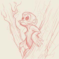 Francois' Leaf Monkey by Dave Mottram, via Behance Animal Sketches, Animal Drawings, Drawing Sketches, Art Drawings, Monkey Drawing, Monkey Art, Mode Cyberpunk, Monkey Illustration, Animal Design