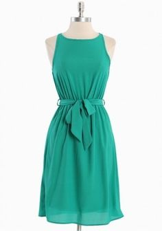 Romantic Green Springtime Dress