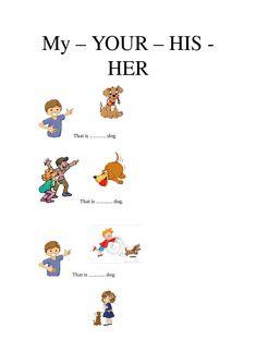 Resultado de imagen para possessive my your his her worksheets