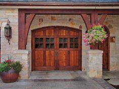 carriage garage door...  love this