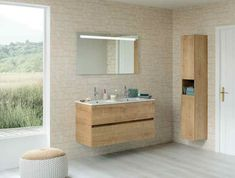 Découvrez cette jolie salle de bain de la gamme Nolita, lumineuse et aérée, en pleine campagne.  #sanijura #salledebain #bathroom #bathroomfurniture #bathroomgoals #design #deco #decoration #interiorinspiration #interiordesign #decor #home #bienvenuechezmoi #decoaddict #madecoamoi #interior4all #campagne #countryside #bois #wood Deco Addict, Decoration, Vanity, Bathroom, Furniture, Design, Master Bathroom Vanity, Woodwind Instrument, Home