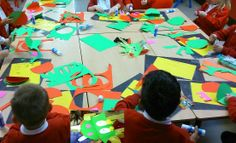 How to make a dragon-children 5 years old. cards - the colour green and red; stick of a lollipop, glue, tissue paper- easy and funny.
