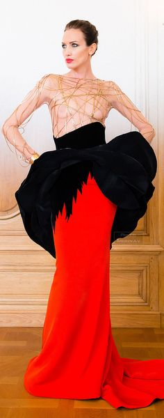 Stéphane Rolland Fall-winter 2014-2015....I know it is not for everyone, but artistically, this gown is breathtaking!!