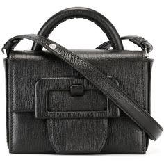 Maison Margiela buckle detail crossbody bag ($1,995) ❤ liked on Polyvore featuring bags, handbags, shoulder bags, black, shoulder strap purses, cross-body handbag, real leather purses, leather crossbody purses and leather shoulder handbags