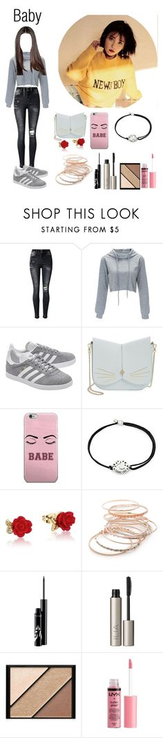 """""""■Out with hana-Baby■"""" by kpop-roleplaay ❤ liked on Polyvore featuring adidas Originals, Ted Baker, Alex and Ani, Disney, Red Camel, Ilia, Elizabeth Arden and Charlotte Russe"""