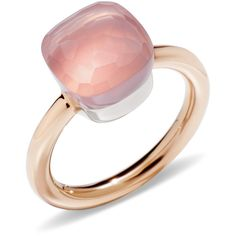 Pomellato Ring Nudo ($1,830) ❤ liked on Polyvore featuring jewelry, rings, pink, pomellato, pomellato rings, white gold rings, white gold jewellery and pink white gold ring