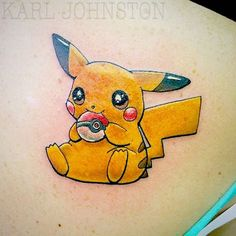 Pikachu is regarded as the most popular Pokemon in the franchise and is the mascot for the game here are some of the fans of Pokemon On point Tattoo Nerdy Tattoos, Cartoon Tattoos, Anime Tattoos, Cute Tattoos, Body Art Tattoos, Small Tattoos, Tatoos, Thigh Tattoos, Mother Tattoos