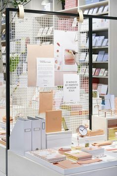 When we heard our favourite Swedish stationery store kikki.K was opening a concept store, we knew it was going Market Displays, Merchandising Displays, Store Displays, Retail Displays, Window Displays, Bg Design, Display Design, Booth Design, Design Shop