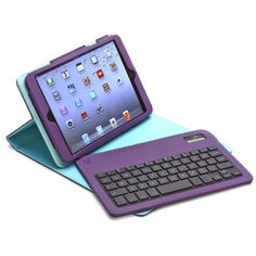 Amazon.com: Aduro FACIO Case with Bluetooth Removable Keyboard for Apple iPad Mini (Purple/Turquoise): Electronics
