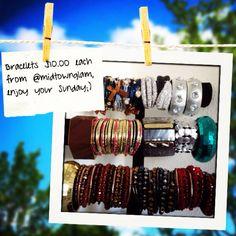 Bracelets & bangles $10.00 each from @midtownglam. Enjoy your Sunday ;) #jewelry#fashionjewelry#accessories#style#bracelets#lotd#fashion#trends
