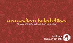 Ramadan telah tiba | Selamat berpuasa bagi yang menjalankan