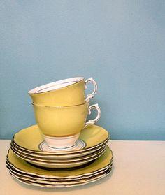 vintage yellow china