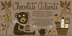 chocolate caliente Chocolates, Chilean Recipes, Chilean Food, Coffee Painting, Vintage Drawing, Time To Eat, Kitchen Recipes, Diy Food, Stevia
