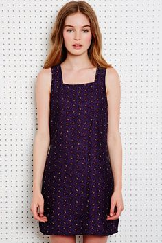 Cooperative Square Neck Babydoll Dress in Paisley at Urban Outfitters
