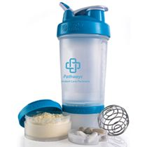 BlenderBottle® ProStak™ System BlenderBottle® ProStak™ - Clear/Aqua Complete System | 22 oz.  (NURSES WEEK)