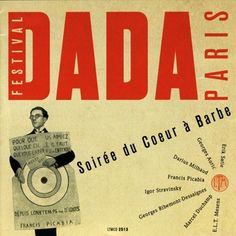 nice design from the 'recordings' of Festival Dada, 1920 and the Soiree du Coeur a Barbee, 1923
