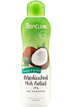 Oatmeal & Tea Tree Medicated Dog Shampoo - TropiClean Pet Products for Dogs and Cats Medicated Dog Shampoo, Pet Shampoo, Tea Tree Shampoo, Pomegranate Extract, Purified Water, Plant Protein, Salicylic Acid, Pet Products, Puppies
