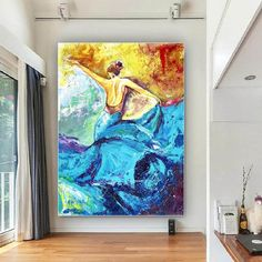 Handmade Wall Art Paintings Acrylic painting canvas image 0 Bedroom Paintings, Your Paintings, Original Paintings, Original Art, Large Canvas Art, Large Painting, Acrylic Painting Canvas, Colorful Artwork, Extra Large Wall Art
