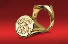 Ladies Signet Ring from Cross Jewelers