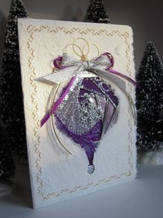 Iris Folding Christmas Ornament Card by warmtouchcreations, $7.50--pinned for color   embellishment ideas