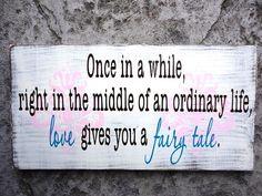 Wedding Love Fairy tale Sign