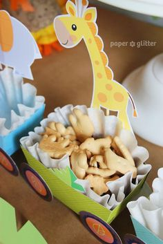 Super cute safari baby boy party --animals on a train. getting close to transportation and safari! Jungle Theme Birthday, Jungle Theme Parties, Safari Birthday Party, Jungle Party, Animal Birthday, Boy Birthday Parties, Baby Birthday, Birthday Celebration, Birthday Ideas