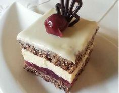 Zákusok Cherry dáma (fotorecept) - recept | Varecha.sk Tiramisu, Cherry, Food And Drink, Treats, Cake, Ethnic Recipes, Sweet, Desserts, Sweet Like Candy
