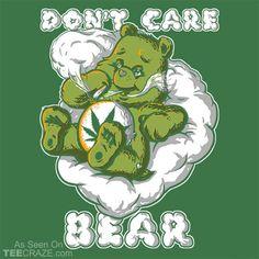 Care Not Bear T-Shirt #TeeCraze #weed #cannabis