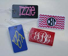 Personalized/Monogrammed Luggage/Bag  Tags by SassyClassySouthern, $6.00