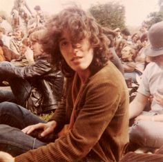 Bruce Springsteen watches an opening act before performing with his band Child in 1969.