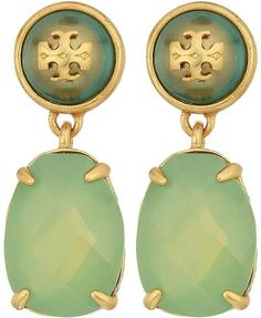 Tory Burch Epoxy Pearl Stone Earrings Earring