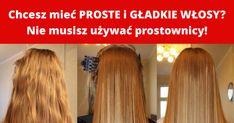 Wiele kobiet marzy o tym aby mieć gładkie i lśniące włosy. Aby osiągnąć taki efekt każdego dnia używają prostownicy, a to wcale nie jest zdrowe rozwiązanie dla włosów. Niestety zbyt ... Hair Beauty, Long Hair Styles, Long Hairstyle, Long Haircuts, Long Hair Cuts, Long Hairstyles, Cute Hair, Long Hair Dos