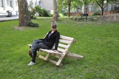 Pallet bench, made in one day. Cool!