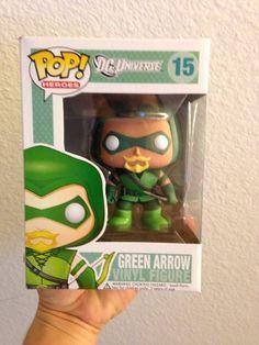 Funko Pop! Heroes #15 DC. GREEN ARROW w/ Custom Case NIB Rare Mint