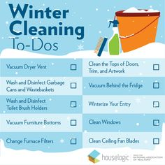 Get ready to hibernate with these 9 easy ways to clean, declutter, and organize your home this winter. Diy Cleaning Products, Cleaning Hacks, Real Estate One, Furnace Filters, Ceiling Fan Blades, Home Selling Tips, Toilet Brush, Winter House
