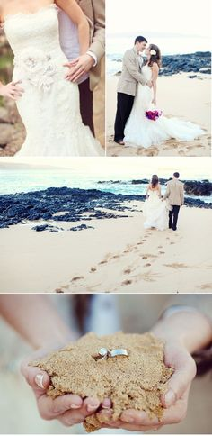 love the rings - beach wedding