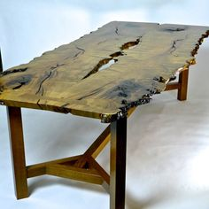 Mesquite and White Oak tree slab table by RusticAlchemy on Etsy #Reclaimedwood #Reclaimedlumber #Custom #Denver #Whiteoak #Mesquite #Colorado #Modern #Rustic #Homedecor #Homedecoration #Oneofakind #SolidWood #Salvagedwood #Nakashimastyle #Furniture #Homeandliving #Woodjoinery #Reclaimed #Conferencetable #Receptiondesk