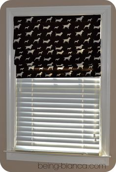 No Sew Faux Roman Shade DIY - easy instructions. Was made and hung in about 30 minutes! I've made several of these now!