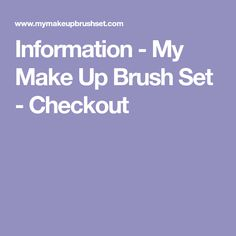 Information - My Make Up Brush Set - Checkout Nail Painting Tips, Professional Hair Straightener, Polygel Nails, Hair Upstyles, Hair Chalk, Unique Makeup, Edgy Hair, Beauty Cream, Brown Hair With Highlights