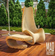 """122 mentions J'aime, 5 commentaires - АВТОРСКАЯ МЕБЕЛЬ ✏ (@mad_factory.design) sur Instagram: """"Параметрический столик и не менее параметрическое экспериментальное кресло-качалка на открытой…"""""""