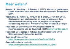 Webcollege jeugdreclassering 3: literatuur.