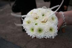 Cuscino portafedi floreale