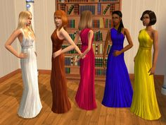 Mod The Sims - Prom Geeks: Geek Chic outfits for teen females + moar Prom Dates
