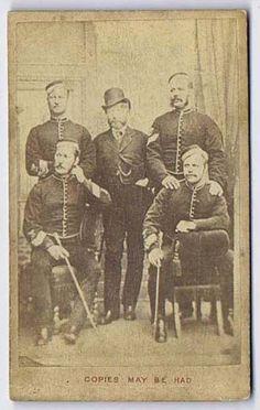 CDV Photograph Group of Victorian Soldiers Carte de Visite