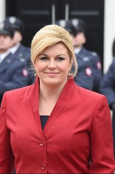 She is the youngest president ever of Croatia as well as the first woman elected to the office. During the World Cup, she used her country's second-place finish as an opportunity to foster relations, particularly with Russian president Putin. Divas, Girl M, Military Women, Ivanka Trump, Dimples, Older Women, Diy Clothes, Bikini Girls, Belle