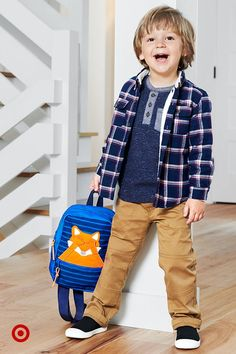 Fresh fall styles are sure to get the kiddos excited to learn. Boys Fall Fashion, Toddler Boy Fashion, Little Boy Fashion, Toddler Boy Outfits, Fall Fashion Outfits, Toddler Boys, Kids Outfits, Young Cute Boys, Cute Kids